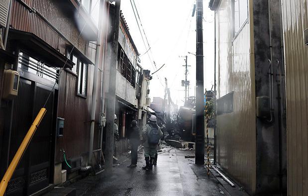 糸魚川市の火災現場