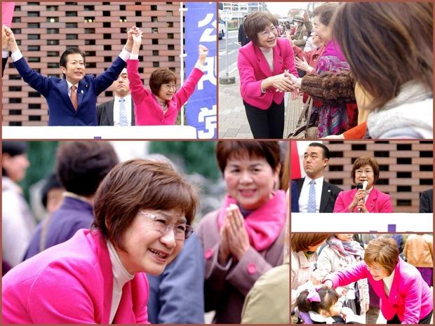 田村けい子街頭遊説(11月24日、つくばクレオ前)