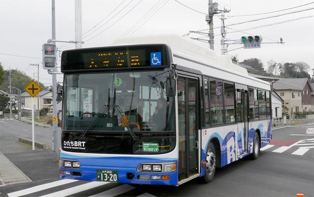日立電鉄のバス