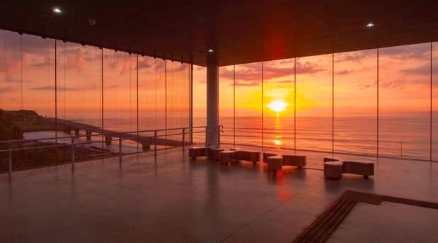 日立駅からの日の出