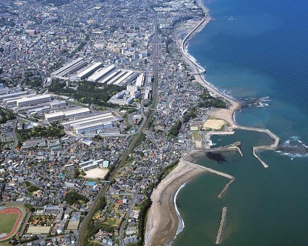 日立市の航空写真