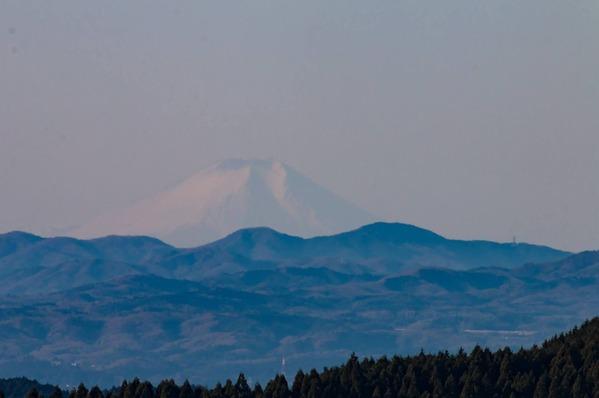 日立から見える富士山(写真は日立市のSNSより)