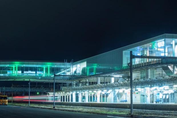 日立駅の夜景