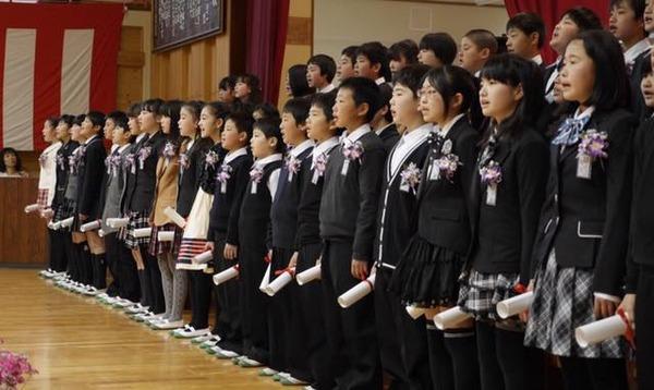 金沢小学校卒業式