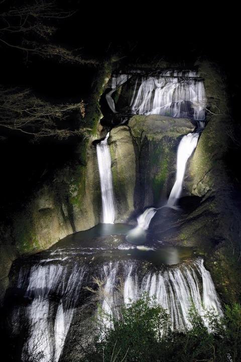 袋田の滝【イルミネーション】