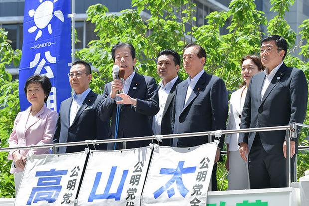 山口那津男代表の街頭演説