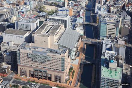 福岡市内の航空写真