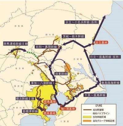 東京ガスのパイプライン