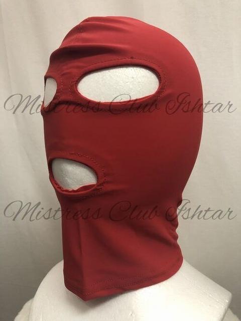 専用全頭マスク 赤(目口空き)