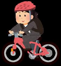 イラストや自転車bicycle_tsukin_woman