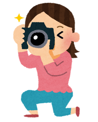 一眼レフカメラを使う女子ichigan_camera_woman