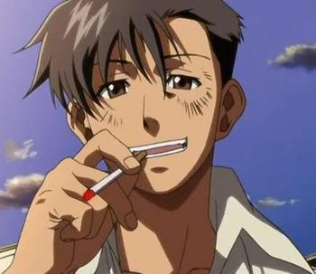 アイコス吸う男