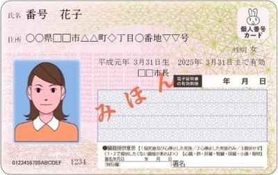 マイナンバーカードの見本に関連する画像