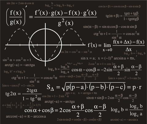 科学的な数式の背景 Scientific formulas backgrounds イラスト素材4