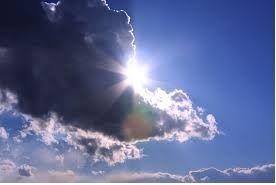 雲、太陽写真