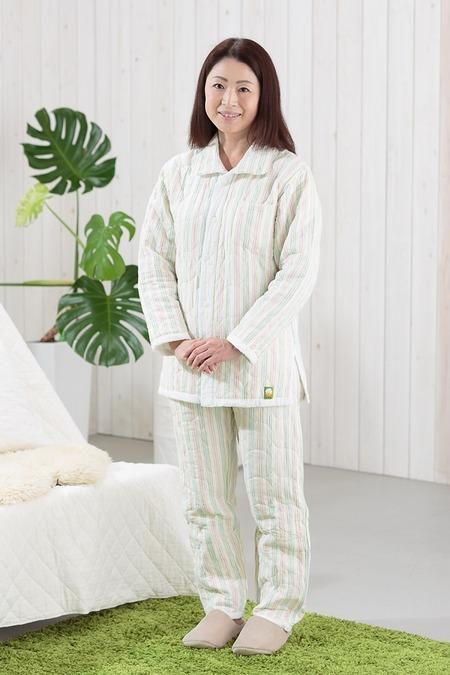 ストライプ冬用パシーマパジャマ
