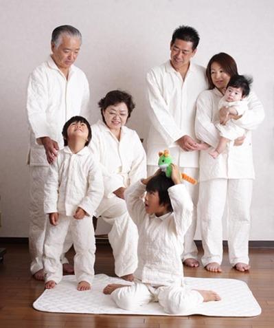 パシーマパジャマ冬用 家族写真