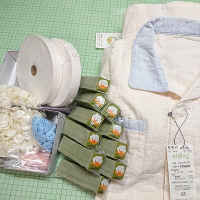 夏用パシーマパジャマ生産準備