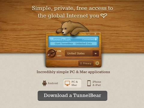 TunnelBear WEB Site
