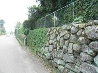 平松城石垣、重富小石垣