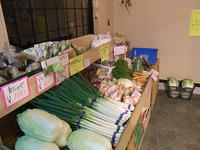 いちの畜産店内 野菜売り場