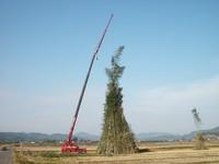 2010年1月16日 姶良ジャンボ鬼火焚き準備中