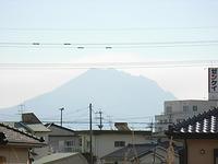 サザンブルー鹿児島から見える桜島