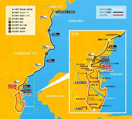 鹿児島マラソン2016コース