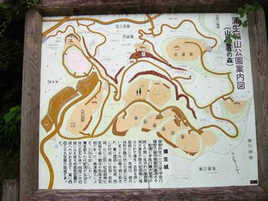 大隅蒲生城縄張図