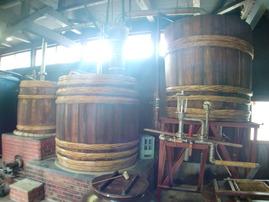 白金酒造木製醸造樽