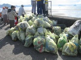 姶良市錦江湾クリーンアップ作戦収集ゴミ