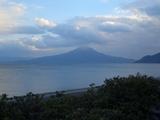 2008年元旦姶良町から見た桜島