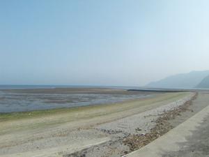 霧島錦江湾国立公園重富海岸から鹿児島市を望む
