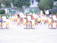 エミール幼稚園運動会練習