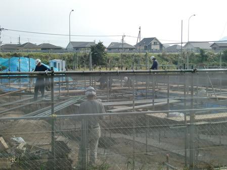 クオラリハビリテーション姶良病院(仮称)の工事現場