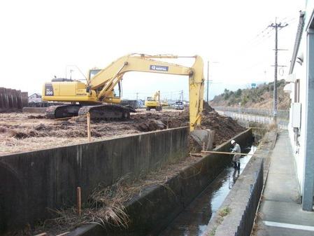 2015年1月22日姶良市イオンタウン姶良水路工事