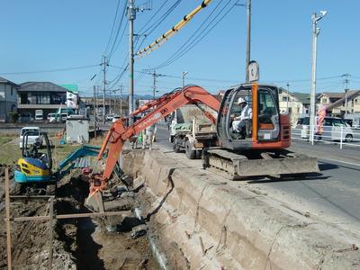 イオンタウン姶良周辺道路拡幅工事
