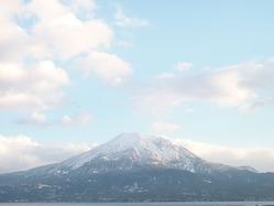 2011年新年姶良市から見える桜島