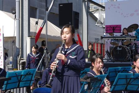 2015年白金酒造さくら祭り重富中学校吹奏楽部