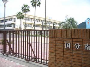 霧島市立国分南中学校正門