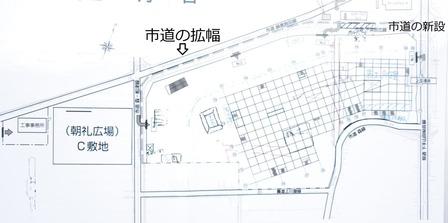 イオンタウン姶良周辺道路新設・拡幅図