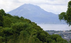建昌城跡から見える桜島