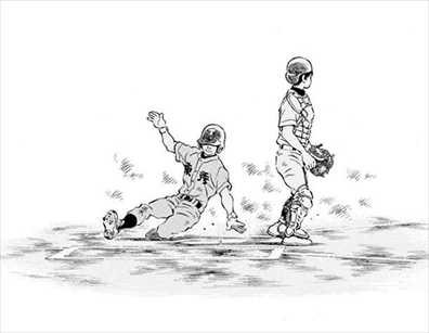 走り方 走者 野球漫画 MIX10巻 描き方2