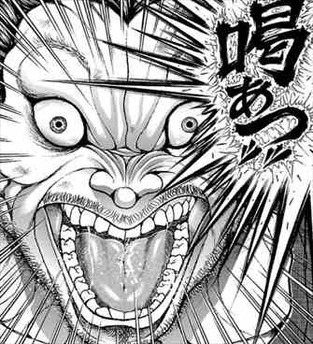 喝破したときの表情の地下闘技場チャンピオン・範馬勇次郎の刃牙の画像・壁紙