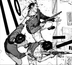 亜人7巻 アクション描写・仲間も撃つ