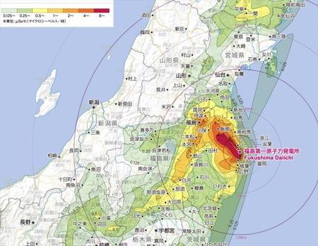 福島県 汚染マップ