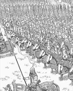 ベルセルク32巻 無数の兵士たち描き込み