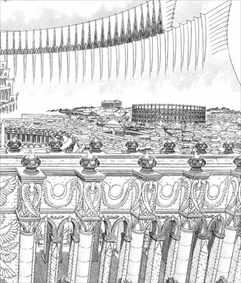 ベルセルク35巻 城の描き込み
