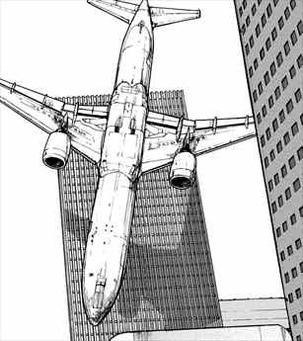 亜人4巻 佐藤の飛行機テロ2