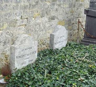 テオとゴッホの実際のお墓 ウィキペディア